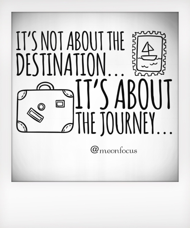 It's not about the destination